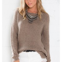 High Above You Sweater in Brown