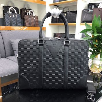 LV Louis Vuitton MEN'S LEATHER BRIEFCASE BAG CROSS BAGY BAG