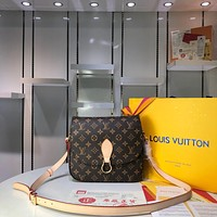 Kuyou Gb29824 Louis Vuitton Lv M51242 Saint Cloud Monogram Messenger Bag 26¡Á7¡Á21cm