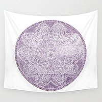 Purple Mandala Tapestry Wall Hanging Meditation Yoga Grunge Hippie