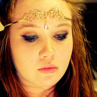 Bronze & Crystal Circlet by BronzeSmith on Etsy