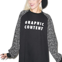 Lazy Oaf Graphic Content Sweatshirt Black One
