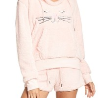 COZY ZOE Hooded Plush Pajamas | Nordstrom