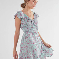 Pins And Needles Ruffle Wrap Mini Dress | Urban Outfitters