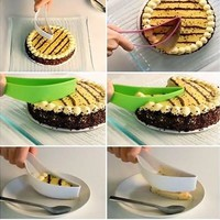 New Useful Cake Pie Slicer Sheet Guide Cutter Server Bread Slice Kitchen Gadget (Size: 25cm by 4cm by 4.3cm) [8833415820]