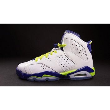 Air Jordan 6 white/purple  Basketball Shoes 36-39