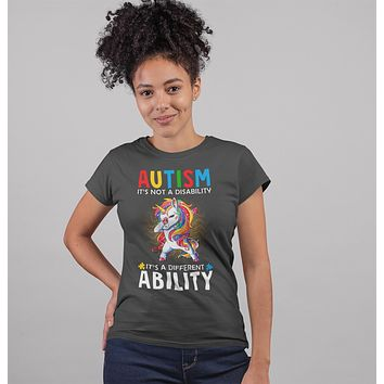 Women's Autism Unicorn T Shirt Love Different Ability Autism Shirt Cute Autism T Shirt Autism Awareness Shirt