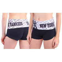 Women's New York Yankees Navy Blue Knit Cameo Short
