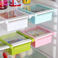 Hoomall Creative Refrigerator Storage Box Fresh Spacer Layer Storage Rack Pull-out Drawer Fresh Spacer Sort Kitchen Tool 16.5x15
