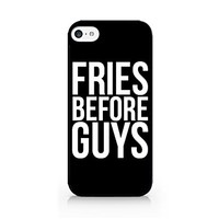 Fries Before Guys - Black - Fast Food - French Fries - Fries - Sassy Quote - iPhone 6/6S Black Case (C) Andre Gift Shop