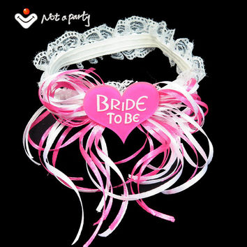 50% off for 3pcs Sweet Bride to be ribbon garters wedding party favor Bachelorette supplies hen night event party supplies