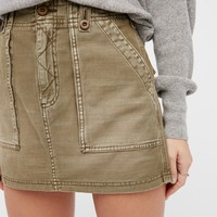 Free People High Waist Military Skirt