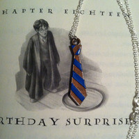 Hogwarts Ravenclaw House Tie Necklace