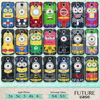 Despicable Me Samsung Galaxy S4 Case Comic Superhero Minions Samsung Galaxy S3 S4 Case Samsung Case Hard or Soft Case-D21