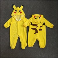 Go Team Mystic Baby Rompers Pikachu Instinct Valor Ash Ketchum Toddler Infant Boy Girl Outfit Jumpsuit  Cosplay CostumeKawaii Pokemon go  AT_89_9