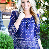 SO GOOD TOGETHER TOP IN NAVY