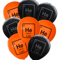 Halloween Party Balloons: Helium Periodic Table Symbol -Pack of 8 | Science Party Decorations Mad Scientist Chemistry HalloweenParty