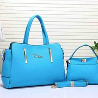 Dior Women's  Handbag Tote Satchel Shoulder Bag Two piece Set Big bag H-YJBD-2H