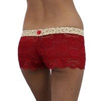 FOXERS -  Red Lace Boxers