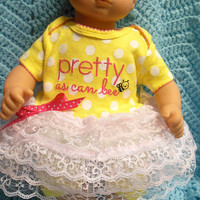 """BITTY BABY GIRL """"Pretty As Can Bee"""" (15 inch) doll outfit clothes with dress, shorts/leggings, and headband"""