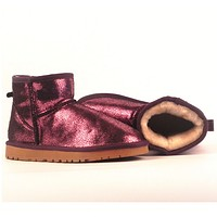 UGG> snow boots leather boots, female + male-5