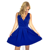 Something Special Scallop Dress In Royal Blue