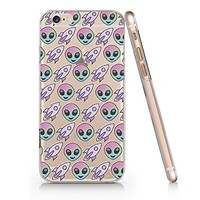 Birdbibishop- Alien Fly Hard Plastic Cover Phone Case for Iphone 6/6s Hot Trend Design Pattern (White)