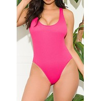 Sunset Edge One Piece Swimsuit Hot Pink