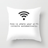 wi-fi Throw Pillow by fyyff