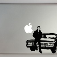 """Supernatural Inspired Sam and Dean with Impala 15"""" Macbook Laptop Decal"""
