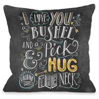 """""""Bushel And A Peck"""" Indoor Throw Pillow by Lily & Val, 16""""x16"""""""