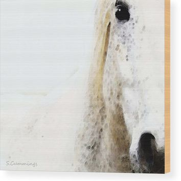Horse Art - Waiting For You Wood Print