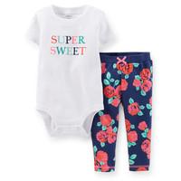 2-Piece Bodysuit & French Terry Pant Set