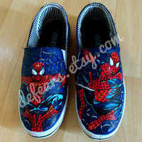 Spiderman Hand Painted Pumps