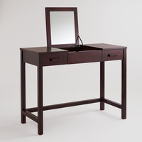 Dark Mahogany Chase Vanity Table - World Market