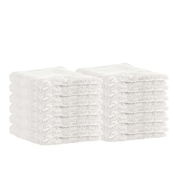 "Puffy Cotton Premium 13"" by 13"" Hotel and Bath 100% Natural Soft Cotton Washcloth Set of 12"
