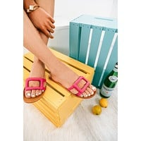 Going Somewhere Sunny Sandals (Hot Pink)