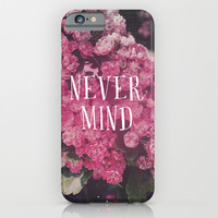 Never Mind The Pink Roses iPhone & iPod Case by Hyakume