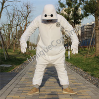Looks better on fatter people Hero 6 Baymax Costume Cosplay Halloween PJ Pajama Onesuit merch tsum tsum plush drawing