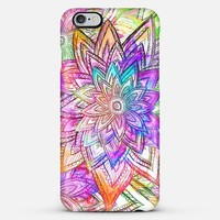 Colorful Vintage Floral Pattern Drawing Watercolor iPhone 6 Plus case by Girly Trend   Casetify