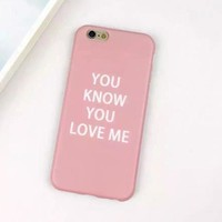 Iphone 6/6s Cute Hot Sale On Sale Hot Deal Stylish Korean Pink Iphone Apple Soft Phone Case [6034061697]