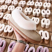 UGG fashion hot seller of women's casual uggs, sheep's fur all-in-one low-top ankle boots