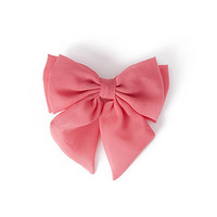 FOREVER 21 Chiffon Bow Barrette Coral One