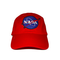 Vintage Culture NASA Dad Cap in Red