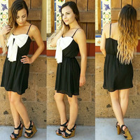 LITTLE BLACK BOW DRESS