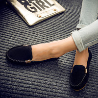 Hot Deal On Sale Hot Sale Stylish Comfort Low-cut Shoes Metal Flats Tods Casual Sneakers [8865369804]