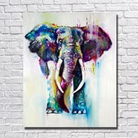 Handpainted Wall Art Oil Painting Abstract Elephant Picture On Canvas 1Peice Paintings Home Decor For Living Room Modern Art