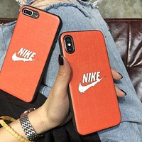 NIKE Fashion New Letter Hook Print Women Men Protective Case Phone Case