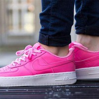 VONEW8L Nike Air Force 1 GS AF1 314219-615 Pink For Women Men Running Sport Casual Shoes Sneakers