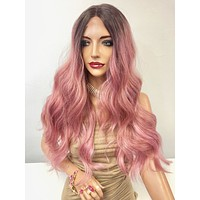 Rose Pink Ombre' Long Hair Lace Front Wig | Pink Friday 1218 54